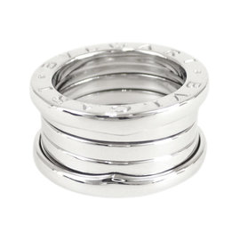 Bulgari 18K White Gold B.Zero1 Ring Size 4.5