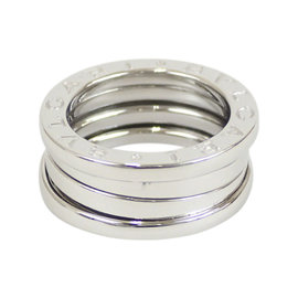 Bulgari 18K White Gold B.Zero1 Ring Size 3