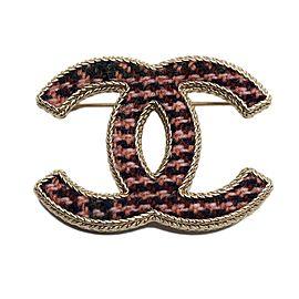 Chanel Coco Mark Gold Tone Metal Brooch