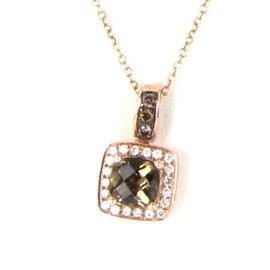 Le Vian Chocolatier 14K Rose Gold with 0.14ct Diamonds and Quartz Necklace
