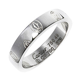 Cartier 18K White Gold Happy Birthday Ring Size 5