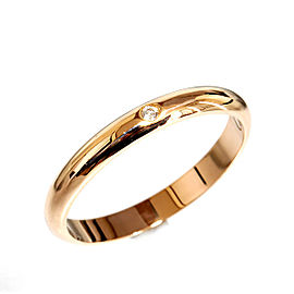 Cartier 18k Rose Gold Classic Diamond Ring Size 6.25