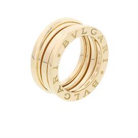 Bulgari 750 Yellow Gold B.Zero1 Three Band Ring Size 3.5