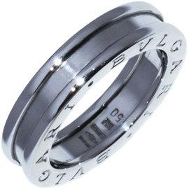 Bulgari B.Zero1 750 White Gold Band Ring Size 5.5