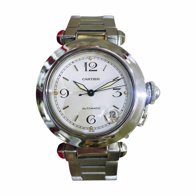 "Image of ""Cartier Pasha 2324 Automatic Stainless Steel White Dial 35mm Womens"""