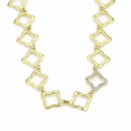 David Yurman 18K Yellow Gold & Diamond Necklace