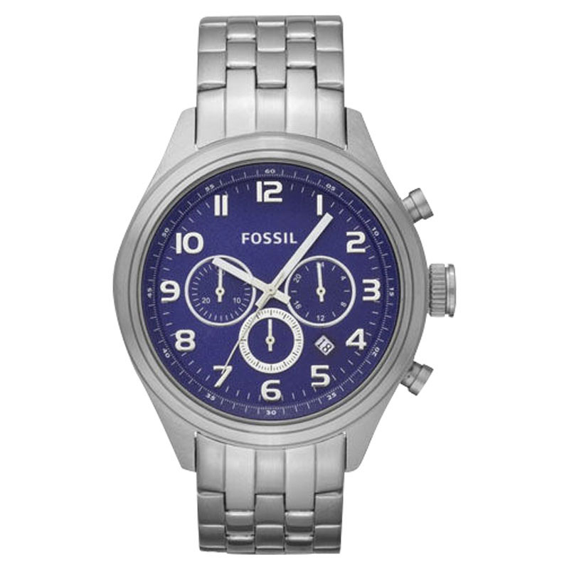 "Image of ""Fossil Asher Bq1027 Stainless Steel Quartz 46mm Mens Watch"""
