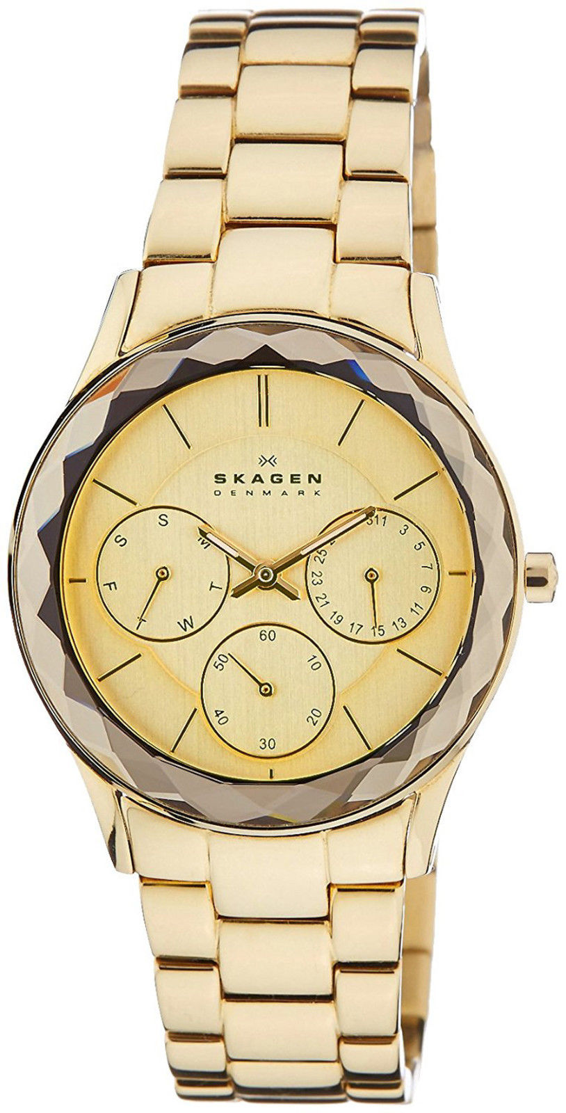 """Image of """"Skagen 344Lgxg Champagne Dial Gold Tone Stainless Multifunction 34mm"""""""