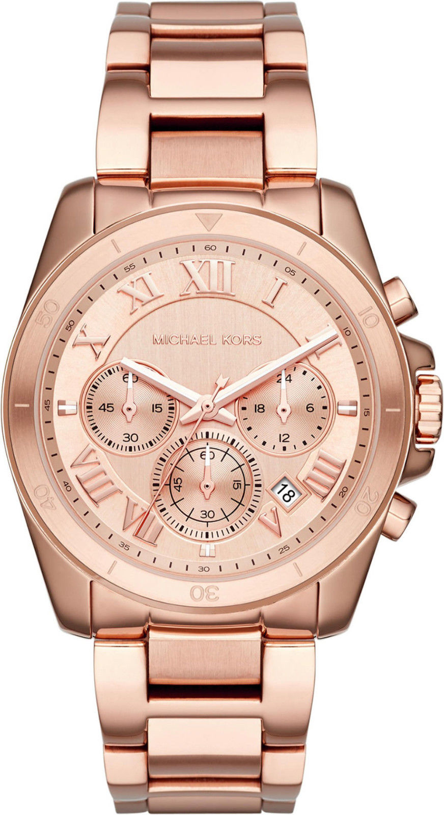"Image of ""Michael Kors Brecken Mk6367 Rose Gold Stainless Steel 40mm Womens"""