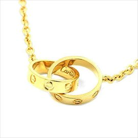 Cartier 18k Yellow Gold Love Pendant Necklace