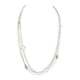 David Yurman Quatrefoil 925 Sterling Silver Diamond & Topaz Multistrand Toggle Necklace
