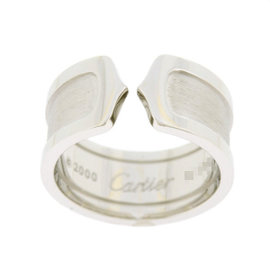 Cartier 18k White Gold 2C Ring Size 7.5