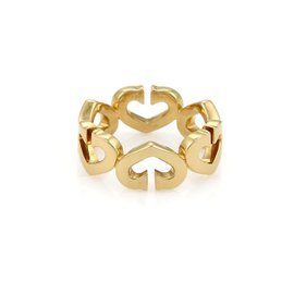 Cartier C Heart 18K Yellow Gold Band Ring Size 6