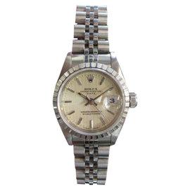 Rolex Date Stainless Steel 25mm Womens Watch