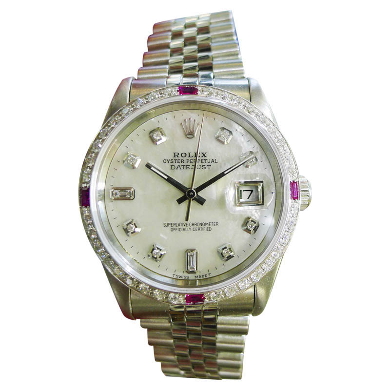 "Image of ""Rolex Datejust Stainless Steel Mother-of-Pearl Dial Automatic 36mm"""