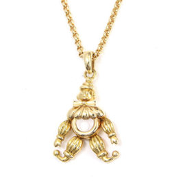 Chopard Happy Diamond 18K Yellow Gold & Diamond Clown Necklace