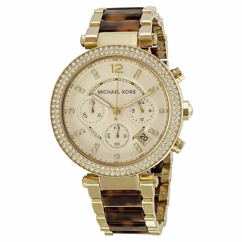 """Image of """"Michael Kors Mk5688 Gold Tone Stainless Steel 39mm Womens Watch"""""""
