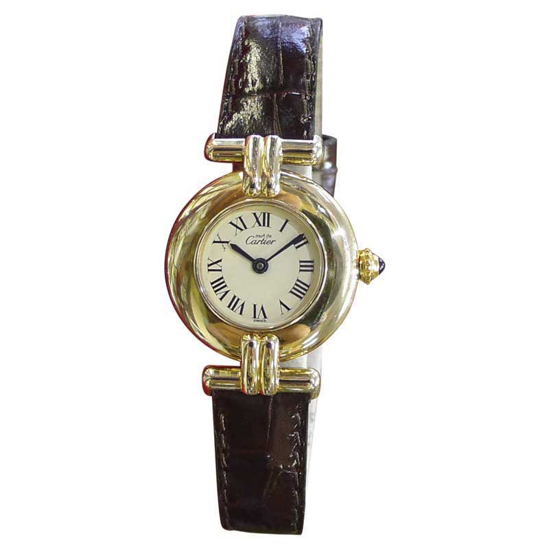 """""Cartier Must De Cartier Vermeil Gold Plated Sterling Silver 24mm"""""" 1863747"