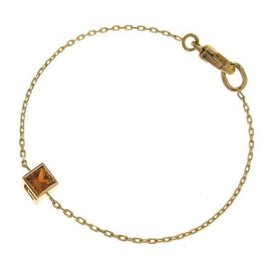 Gucci 18K Yellow Gold & Citrine G Cube Bracelet