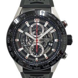 Tag Heuer Carrera CAR2A1Z.FT6044 Stainless Steel & Rubber Automatic 45mm Mens Watch