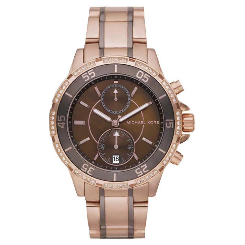 """Image of """"Michael Kors Mk5553 Two Tone Stainless Steel 42mm Womens Watch"""""""
