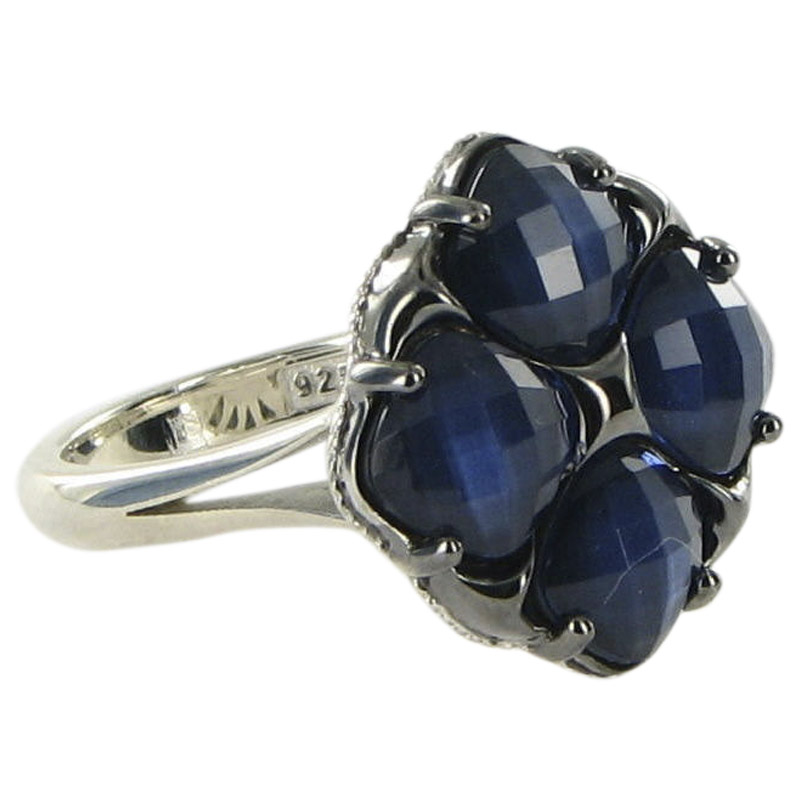 "Image of ""Tacori City Lights 925 Sterling Silver & 18K Yellow Gold Blue Quartz &"""