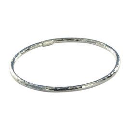 Ippolita Glamazon 925 Sterling Silver Hammered Bangle Bracelet