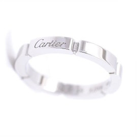 Cartier Maillon Panthere 18k White Gold Ring Size 4.75