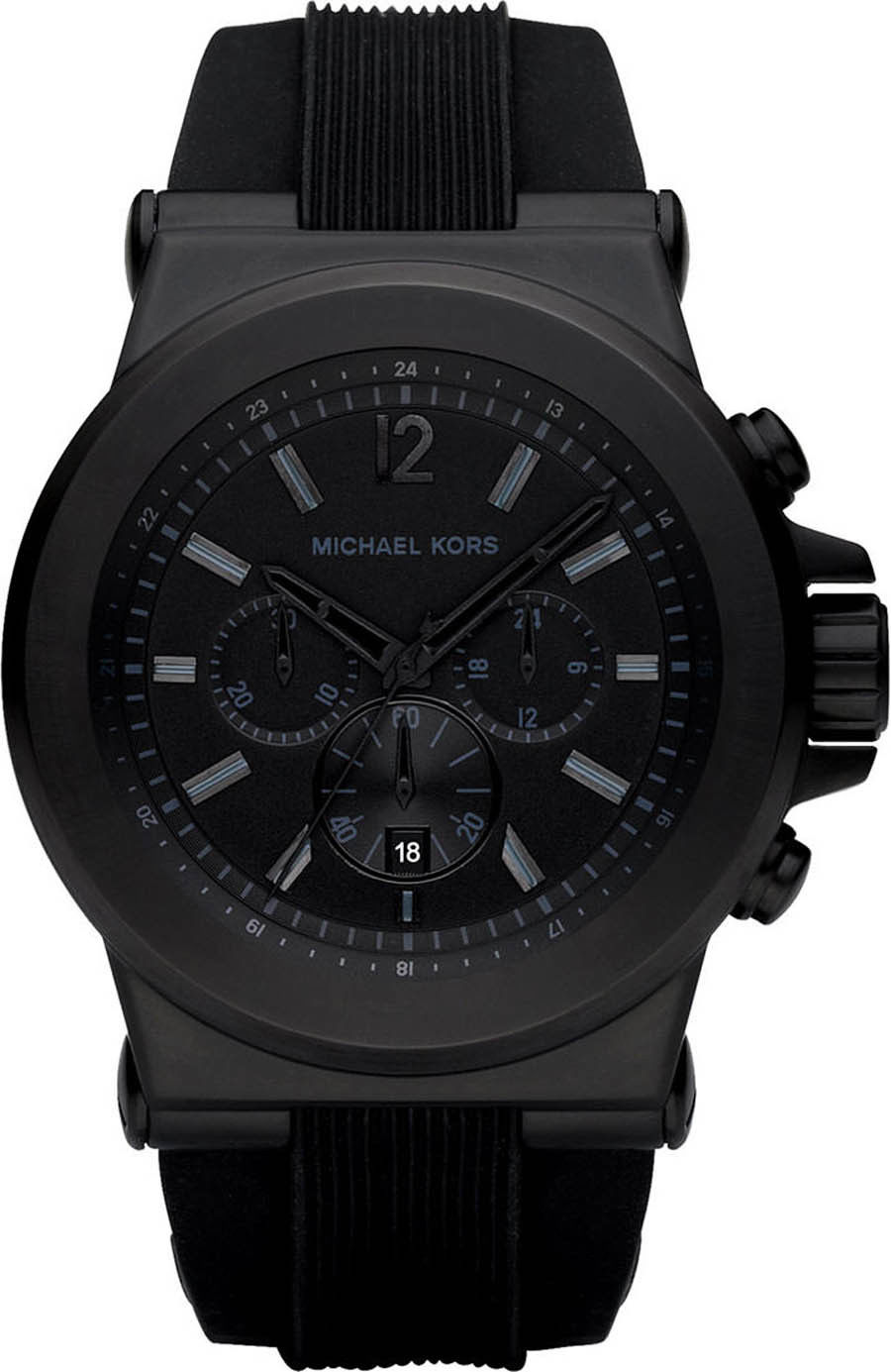 "Image of ""Michael Kors Mk8152 Black Ion Plated Stainless Steel 47.90mm Mens"""