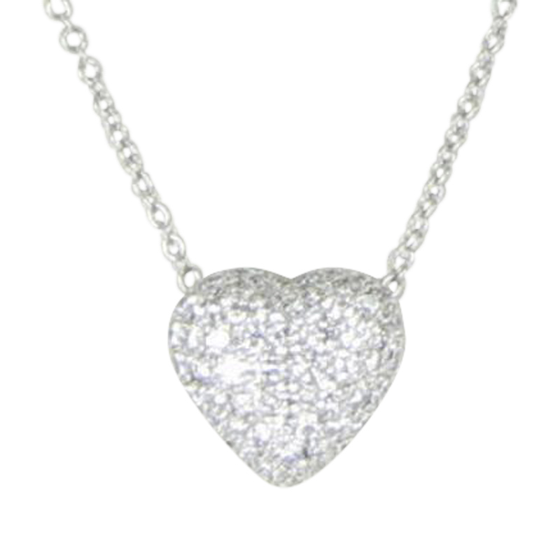 "Image of ""Kwiat 18K White Gold with 1.25ct Diamond Heart Pendant Necklace"""
