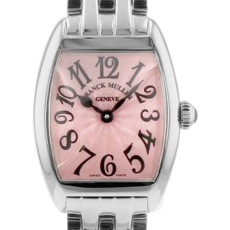 "Image of ""Franck Muller Cintree Curvex 2252Qz(Sf3-238) Stainless Steel Pink Dial"""