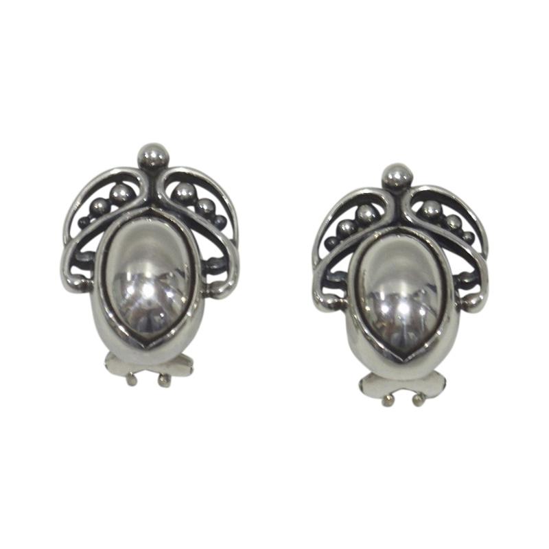 """Image of """"Georg Jensen 925 Sterling Silver Clip Earrings"""""""