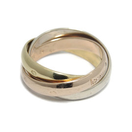 Cartier 18K Yellow White Rose Gold Trinity Ring Size 5