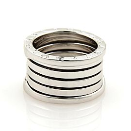 Bulgari B Zero-1 18K White Gold Band Ring Size 4.5