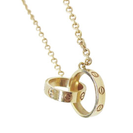 Cartier Baby Love 18k Rose Gold Pendant Necklace