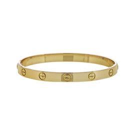 Cartier 18K Yellow Gold Love Bracelet / Bangle Size 18