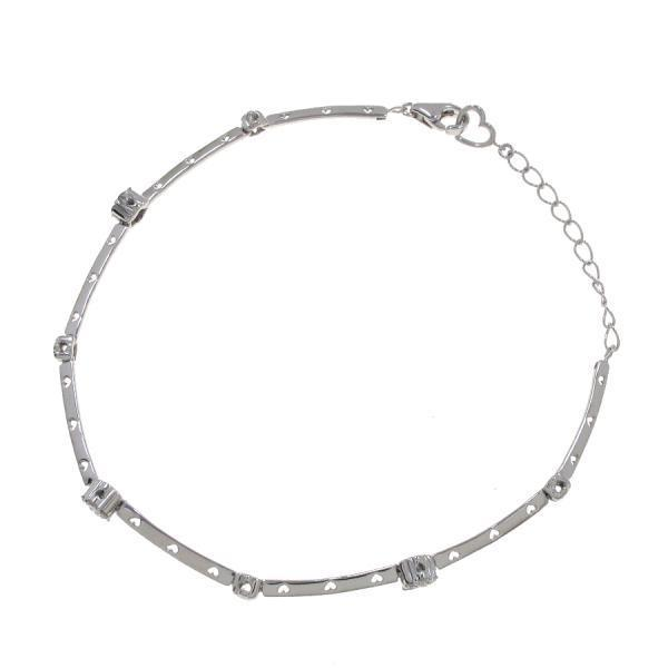 "Image of ""Ponte Vecchio 18k White Gold 0.20ct. Diamond Flower Motif Bracelet"""