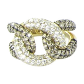 Le Vian Chocolatier 14K Yellow Gold & 2.68ct. Diamond Interlocking Ring Size 7.25