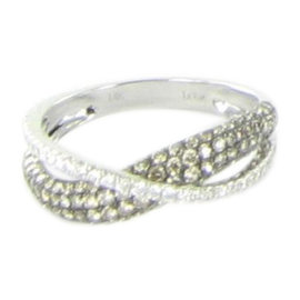 Le Vian Crossover 14K White Gold & 1.11ct. Diamond Ring Size 7