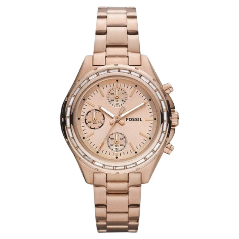 "Image of ""Fossil Ch2826 Rose Gold-Tone Stainless Steel Quartz 38.0mm Womens"""