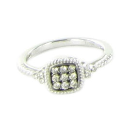 Le Vian 14K White Gold & 0.18ct. Diamond Ring Size 7