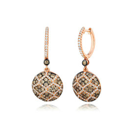 Le Vian Chocolatier 14K Rose Gold & 1.24ct. Diamond Drop Earrings