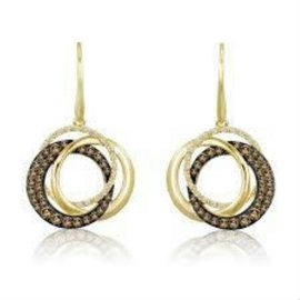 Le Vian Chocolatier 14K Yellow Gold & Diamond Cricle Drop Earrings