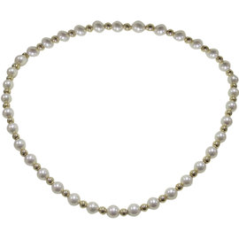 Mikimoto 18K Yellow Gold and Akoya Pearl Necklace