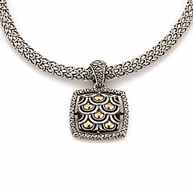 John Hardy Jaisalmer 925 Sterling Silver & 18K Yellow Gold Pendant Necklace