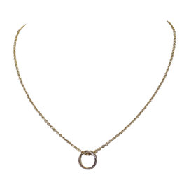 Cartier 18K Yellow White and Rose Gold Trinity Pendant Necklace