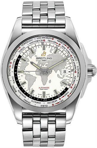 "Image of ""Breitling Galactic Unitime Automatic Wb3510U0/a777 Stainless Steel"""