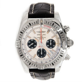 Breitling Chronomat AB01154G White Dial Automatic Stainless Steel 44mm Mens Watch