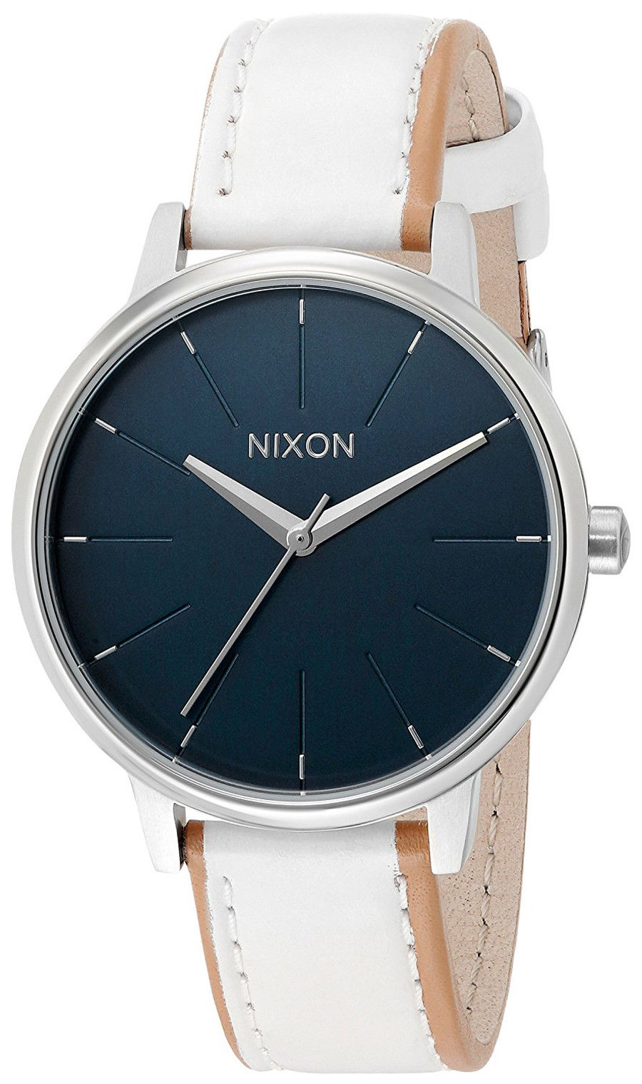 "Image of ""Nixon A108-321 Kensington Stainless Steel / Leather Quartz 37mm Womens"""