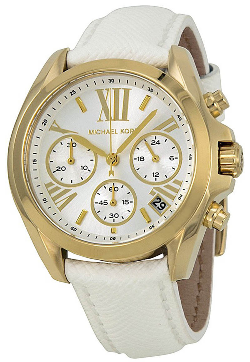 """Image of """"Michael Kors Bradshaw Mk2302 Gold Tone Stainless Steel / Leather"""""""